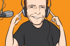 animation caricature digitale DJ Radio