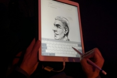 caricature-ipad-en-direct