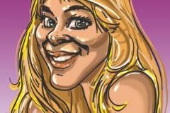 caricature numérique sexy pour Enterrement de Vie de Jeune Fille