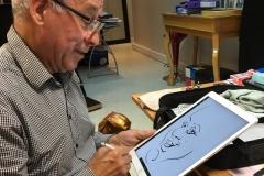 caricaturiste iPad en direct