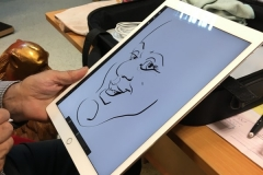 dessin sur iPad caricature numerique