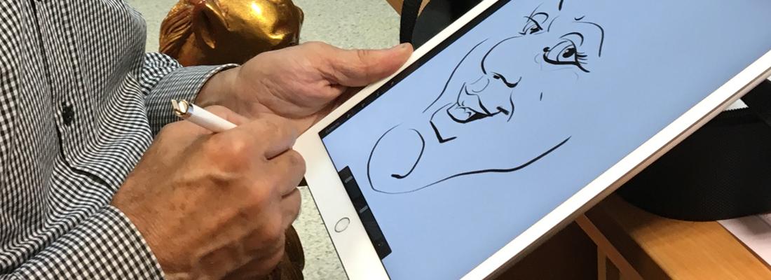 caricaturiste-digitale-tablette